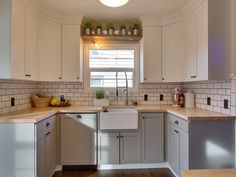 """Country Kitchen with 1 1/2"""" x25"""" x 8 lft Maple Butcher Block Countertop, Galley, Wood counters, flush light, Flush"""