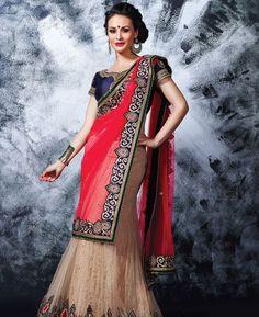 Buy Gorgeous Brown Lehenga Choli online at  https://www.a1designerwear.com/gorgeous-brown-lehenga-choli-2  Price: $82.31 USD