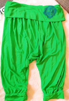 Our Fit Fluro Green Yoga Genie Harem Pants
