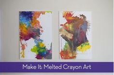 Wall Art: A New Way to Make Crayon Art