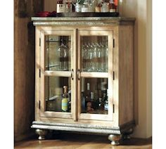 Perfect for creating an at-home bar - Pottery Barn Serena Bar Cabinet