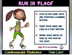 "FITNESS CIRCUIT TASK CARDS- ""CARDIOVASCULAR ENDURANCE"" - TeachersPayTeachers.com"