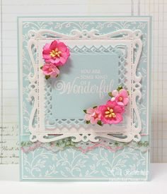 Spellbinders Nestabilities Captivating Squares cards - Google Search