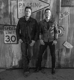 Blake Shelton and Luke Bryan by Ed Rode