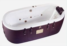 """L'invitation au voyage"" is the message that this Haute Coutoure bathtub from Condor-Paris is trying to transmit. Resembling a giant but very classy suitcase, this appealing bathroom product could be a real collection piece for those interesting in traveling. The ""voyageurs""  probably get a kick of this tub's side belts and unusual leather cushion which one can rest his or her head on in a relaxing and mending environment. The Condor logo looks very stylish and is in tune with the"