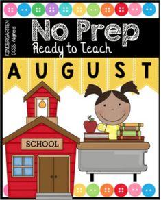 Kindergarten in August – FREEBIES