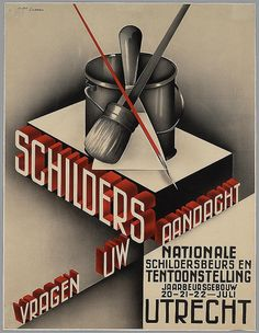 Jo Linssen. Painters Draw Your Attention. 1930s | Flickr - Photo Sharing!