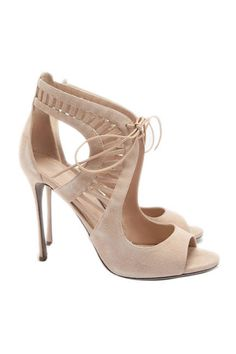 The hottest summer sandals: Sergio Rossi nude suede booties