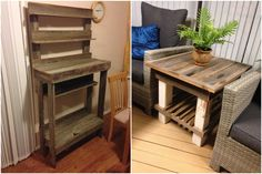 Side Board From Recycled Hardwood Fence Palings Outdoor Pallet Bar, Wood Pallet Bar, Outdoor Pallet Projects, Pallet House, Pallet Sofa, Diy Pallet Furniture, Recycled Furniture, Furniture Projects, Pallet Ideas