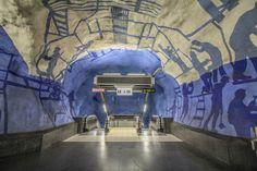 ⚡️Blitzlichter⚡️ Stockholms U-Bahnsystem – Eine Welt der Kunst im Untergrund