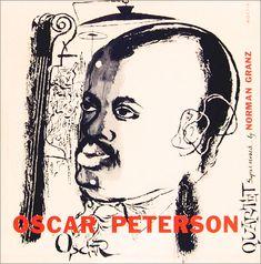 Oscar Peterson Quartet, 1952. Design by David Stone Martin