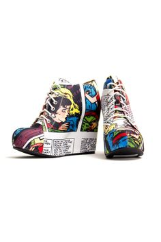 must, must, MUST HAVE!!!  :)    99 Tie - Sick of Men  Jeffrey Campbell + Black Milk    $189.95 USD    An old favourite. It features artwork form a very old pulp comic about the adventures of 'Madge' a woman who is betrayed and learns to love again (after being 'Sick of Men'). Very fun.