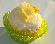 Lemon cupcakes with a lemon buttercream frosting -Bake It and Make It with Beth