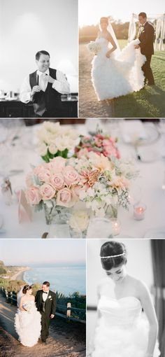 This beautiful wedding featured on SMP really inspired my color palette & vision. My blue is a bit darker.  #pinBellaFigura