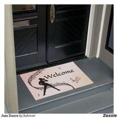 Jazz Dance Doormat Dance All Day, Jazz Dance, Personalized Door Mats, Dance Photos, Outdoor Areas, Floor Mats, Latex, Create Your Own, Doors