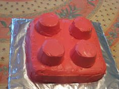 So B had a LEGO Building Party on the and I had to make LEGO brick cakes! I was going to make 1 rectangular brick from a cake. Diy Lego Birthday Cake, Lego Cake, Birthday Ideas, 5th Birthday, Birthday Parties, Raspberry Smoothie, Apple Smoothies, Mini Cakes, Cupcake Cakes