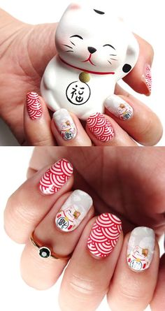 20 puuuurfect cat manicures nail designs for catlovers nails Nail Art Designs, Long Nail Designs, Nail Designs Spring, Simple Nail Designs, Acrylic Nail Designs, Manicure Gel, Manicure Nail Designs, Gel Nail, Nails Design