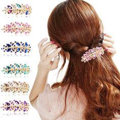 Crystal Rhinestone Leaves Hairpin. Hair • JewelryCute ... e90bf0638277