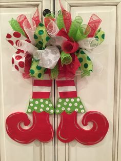 Elf legs door hanger for Christmas