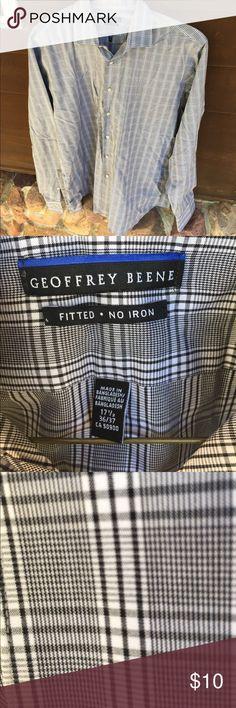 Long sleeve black and white plaid dress shirt Black and white plaid dress shirt for men. Long sleeve. Geoffrey Beene Shirts Dress Shirts