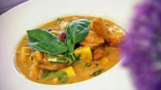Hähnchen-Curry mit Ananas und Mango