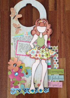 Bildergebnis für door hangers with prima stamp dolls Paper Dolls, Art Dolls, Door Knobs Crafts, Prima Doll Stamps, Arte Country, Photo Album Scrapbooking, Decoupage, Scrapbook Paper Crafts, Handmade Christmas
