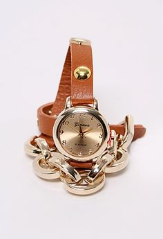 Wrap Watch with Gold Chain, in Camel, Mint, or Coral #privategallery #pgpackinglist