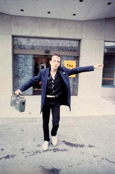 The Clash's Joe Strummer in NYC in the early 1980s
