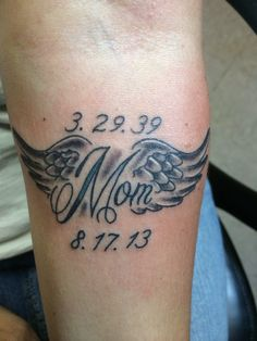 Tattoo that I just got in memory of my mom who just passed away in August of 2013...