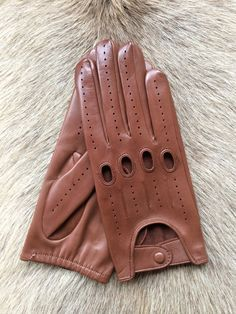 Driving leather gloves for men's  Lambskin by leathergloves4u, $45.00