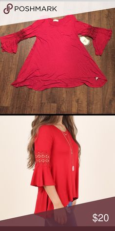 Soft Knitted red Blouse NWT NWT Red flowy Blouse from Altard State Altar'd State Tops Blouses