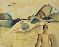Ismael Nery, Rio de Janeiro, 1926. Aquarela/papel. Foto: Pedro Oswaldo Cruz