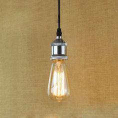 Vintage Retro Filament Pendant Light For Bar Cafe Living Room Decoration Eddison Bulb Kits Silver Kit, Mason Jar Lamp, Light Bulb, Living Room Decor, Retro Vintage, Table Lamp, Ceiling Lights, Lighting, Silver