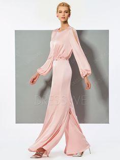 fd11f3e310c Hot Sale A Line Long Sleeve Beaded Long Hot Evening Jumpsuits