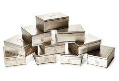 "4"" Lady Grey Tea Boxes on OneKingsLane.com"