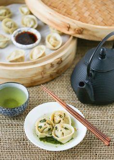 Thirsty For Tea Gyokuro Chicken Dumplings Tea Recipes, Asian Recipes, Snack Recipes, Cooking Recipes, Asian Foods, Chinese Recipes, Snacks, Chinese Food, Slider Recipes