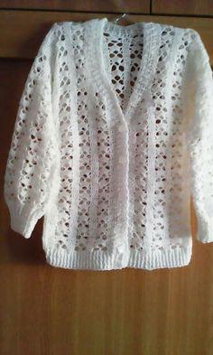 Crochet Cardigan Sweater Pattern made from two hexagons - free pattern! Crochet Cardigan Pattern, Crochet Jacket, Crochet Stitches Patterns, Crochet Blouse, Cotton Crochet, Easy Crochet, Crochet Baby, Free Crochet, Knit Crochet