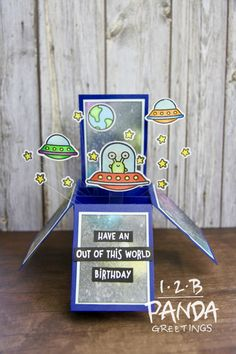 Lawn Fawn Beam Me Up Pop Up Box Card