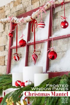 DIY: Basket Christmas Tree Collar Diy Christmas Mantel Decorating, Diy Christmas Fireplace, Christmas Window Decorations, Christmas Mantels, Decorating On A Budget, Christmas Crafts, Christmas Ornaments, Holiday Decor, Christmas Christmas