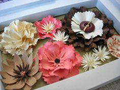 A Passion For Cards: Punch and Stamp flowers...lots of photos