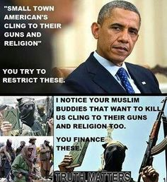 Obama= HATER of America, Christians, etc.