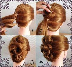 Amint az alábbi - a frizura készítés folyamatát lépésről-lépésre bemutató képekből kiderül -, ezeknek a dekoratív frizuráknak elkészítése ...