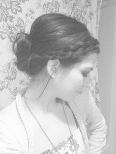 messy bun + braid...pretty
