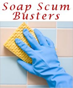 Pour 1/2 cup of boiling water and 1 1/2 cups of white household vinegar into spray bottle, add a quick squirt of liquid dish soap. Spray area generously with this mixture and allow to soak for about 10 minutes. Scrub clean with a nylon scrubber then rinse well with water. Repeat process if necessary. Avoid using on tile grout since vinegar may affect color.