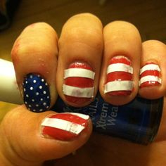My Fourth of July nails :)