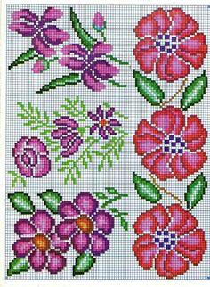 Kawaii Cross Stitch, Cross Stitch Heart, Cross Stitch Borders, Cross Stitch Flowers, Cross Stitching, Cross Stitch Embroidery, Hand Embroidery, Cross Stitch Patterns, Embroidery Patterns Free