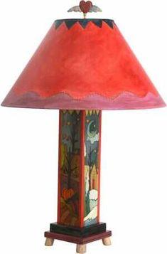 Milled Candlestick Lamp S38396 | Sticks Handmade Painting Lamp Shades, Painting Lamps, Candlestick Lamps, Candlesticks, Sticks Furniture, Handmade Lamps, Lampshades, Four Seasons, Floor Lamp