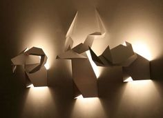 Abstractions of animal heads origami Hunter, are enabled.   Polos Furniture