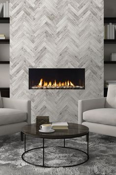 Regency City Series™ New York 40. Designer gas fireplace featuring cool wall system that allows you to use any finishing material right to the edge of the fireplace.
