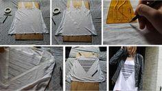 Interesujący wzór czyni proste ubrania oryginalnymi.